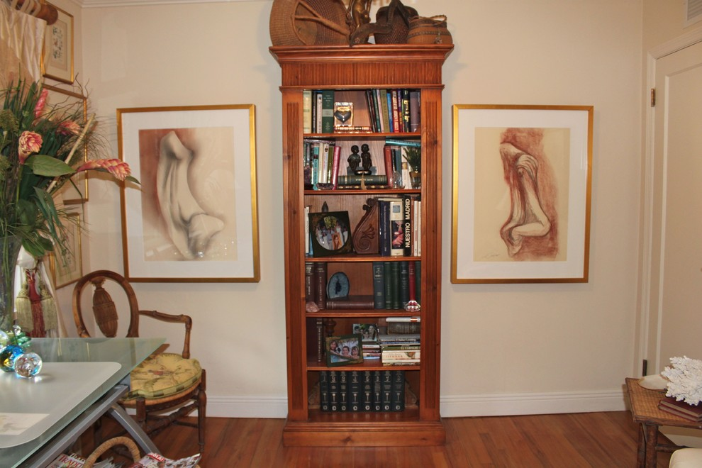 oak bookcase Spaces Traditional with CategorySpacesStyleTraditionalLocationMiami