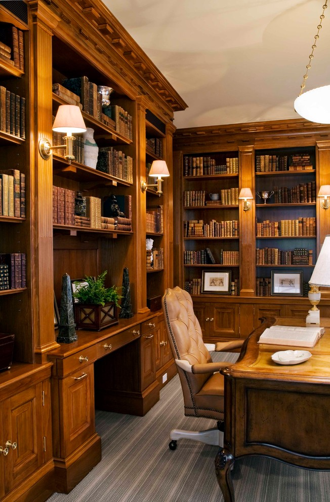Office Credenza Home Office Traditional with Book Storage Bookcase Bookshelves Boston Built in Bookcase Cabinet Cabinetry Custom Home Office