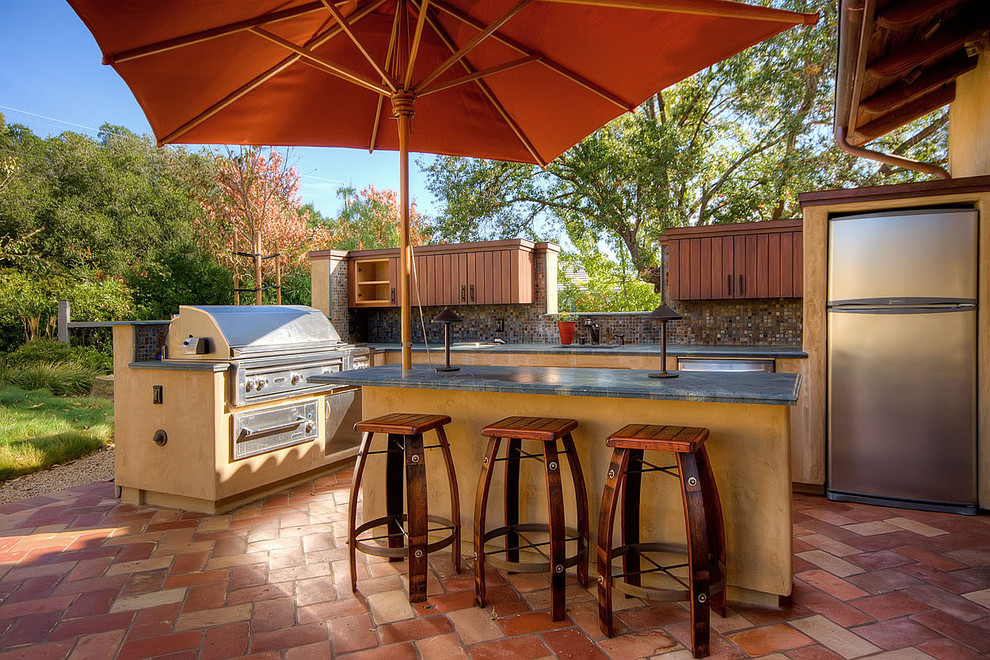 offset umbrella Patio Contemporary with barbecue built in storage grill outdoor bar outdoor kitchen patio umbrella saltillo
