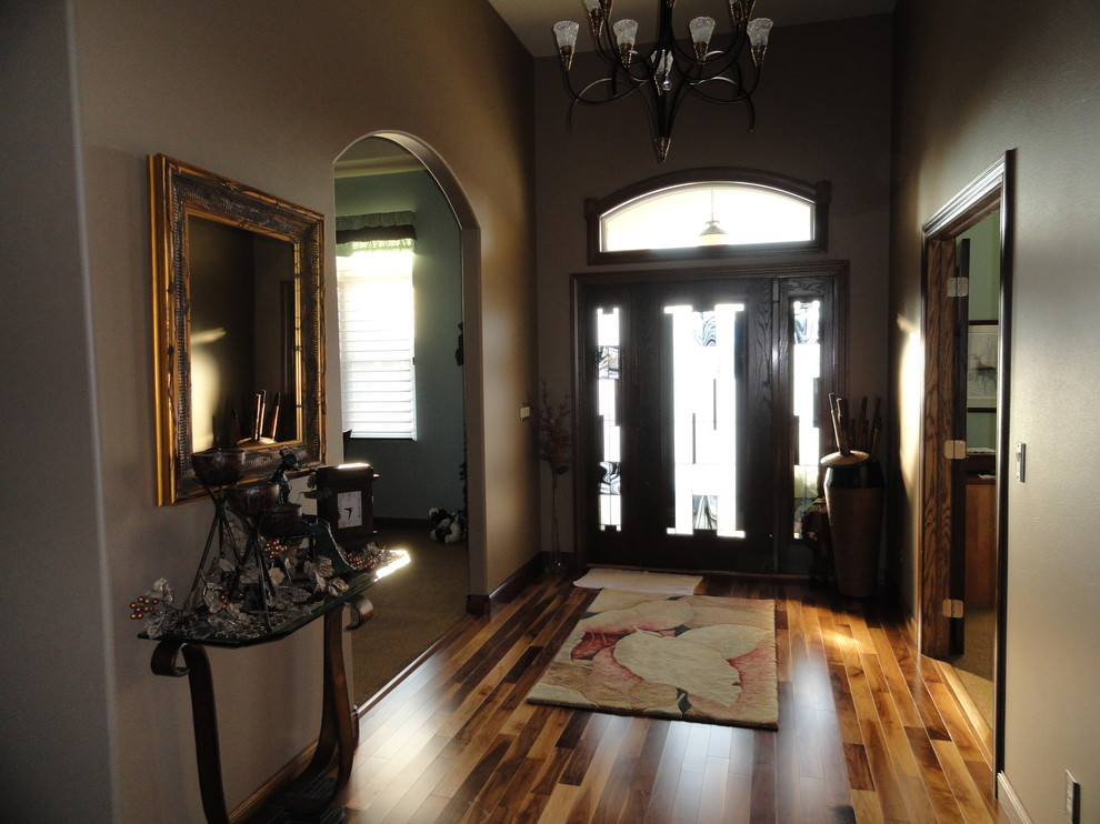 Oriental Weavers Entry Traditional with Area Rug Black Walnut Elk Lighting Engineered Wood Entery Way Foyer Home