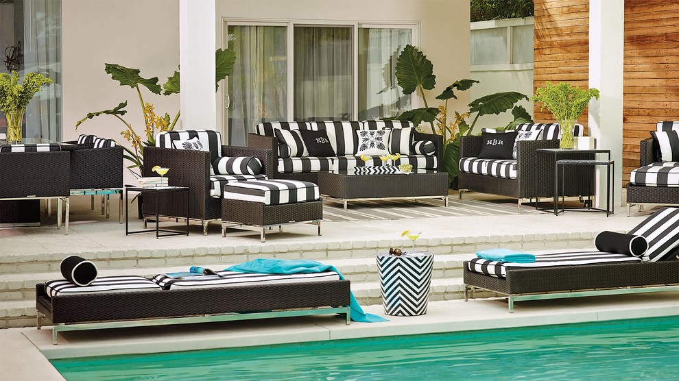 outdoor chaise lounge cushions Patio Contemporary with none
