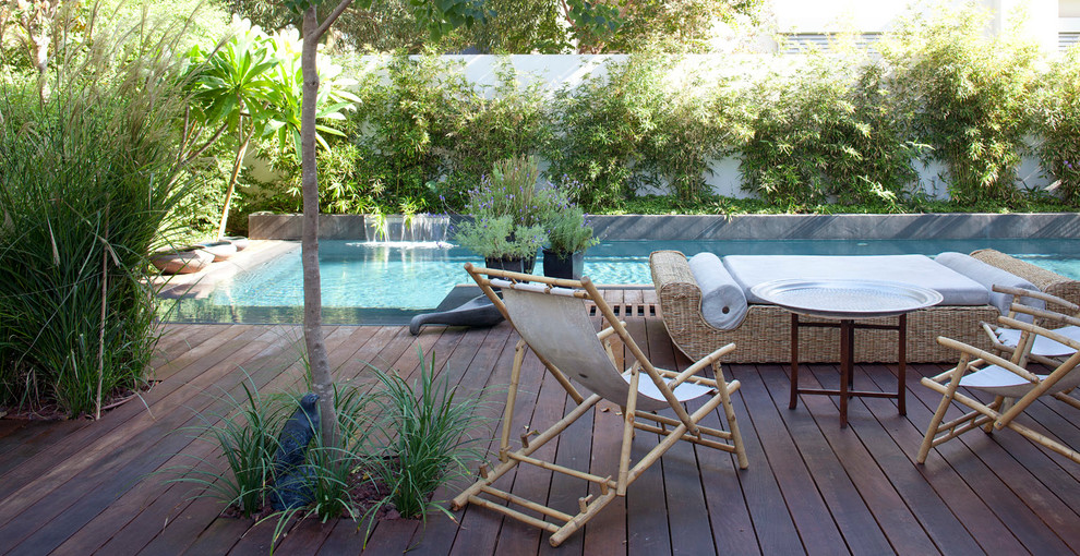 Outdoor Daybed Deck Asian with Bamboo Side Chair Outdoor Daybed Outdoor Potted Plant Outdoor Tray Table Pool