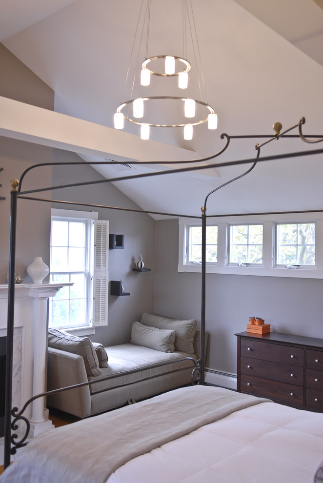 Outdoor Daybed with Canopy Bedroom Traditional with Baseboards Canopy Bed Chandelier Day Bed Double Hung Windows Dresser Floating Shelves