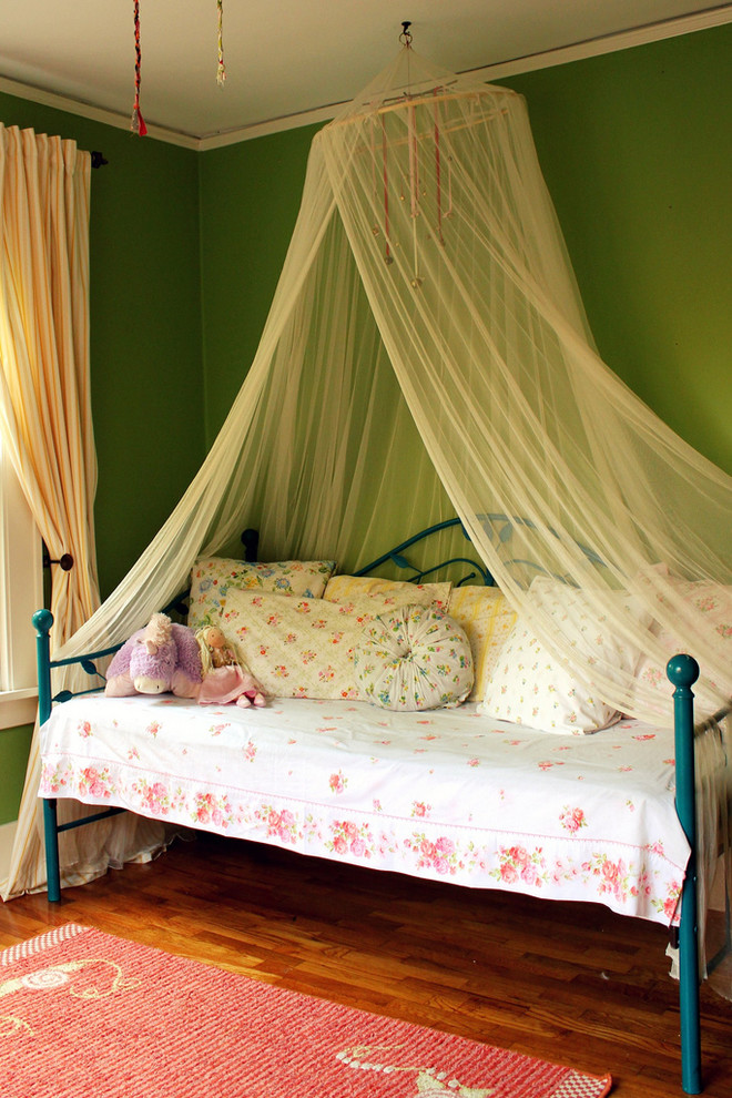 outdoor daybed with canopy Kids Shabby chic with area rug bed pillows Bedroom day bed floral bedding girls room green