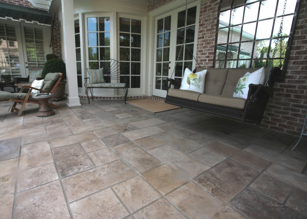 Outdoor Gliders Porch Traditional with None