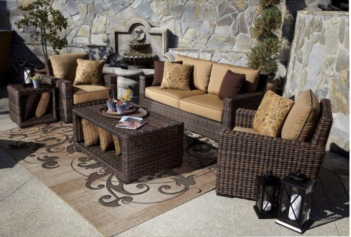 Outdoor Loveseat Patio Modern with 5 Pc Montecito Loveseat Sofa Set Modern Outdoor Sofa Outdoor Sofa Outdoor