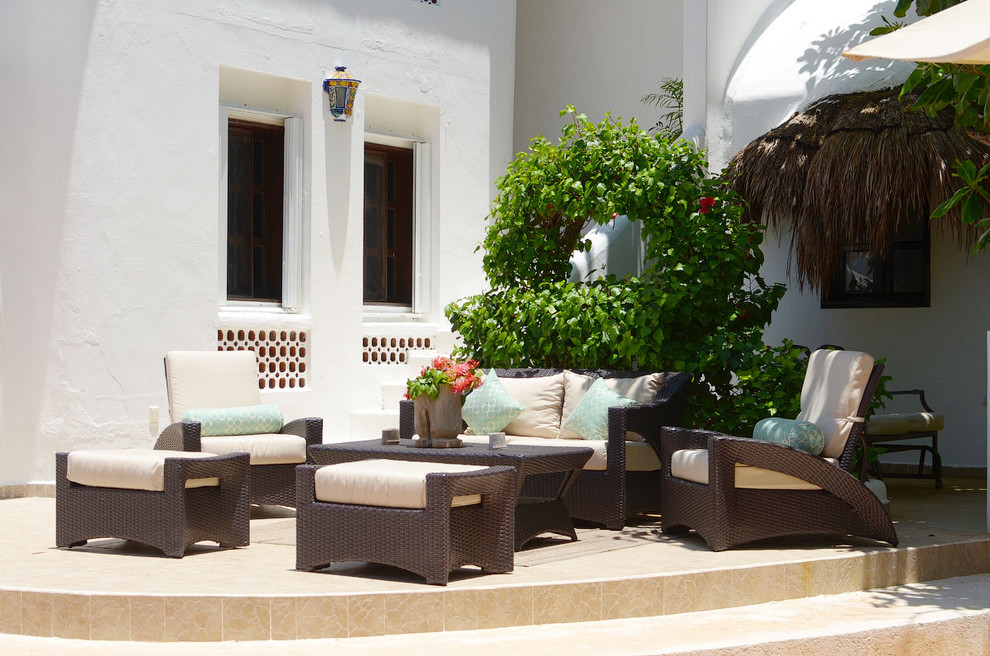 outdoor loveseat Patio Tropical with Mexican Outdoor armchair outdoor loveseat outdoor ottoman Patio tropical white stucco white