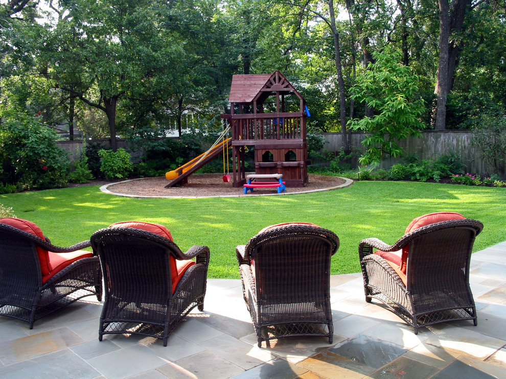 Outdoor Playsets Landscape Traditional with Fort Grandkids Grass Kids Backyard Kids Picnic Table Kids Playground Kids Playset