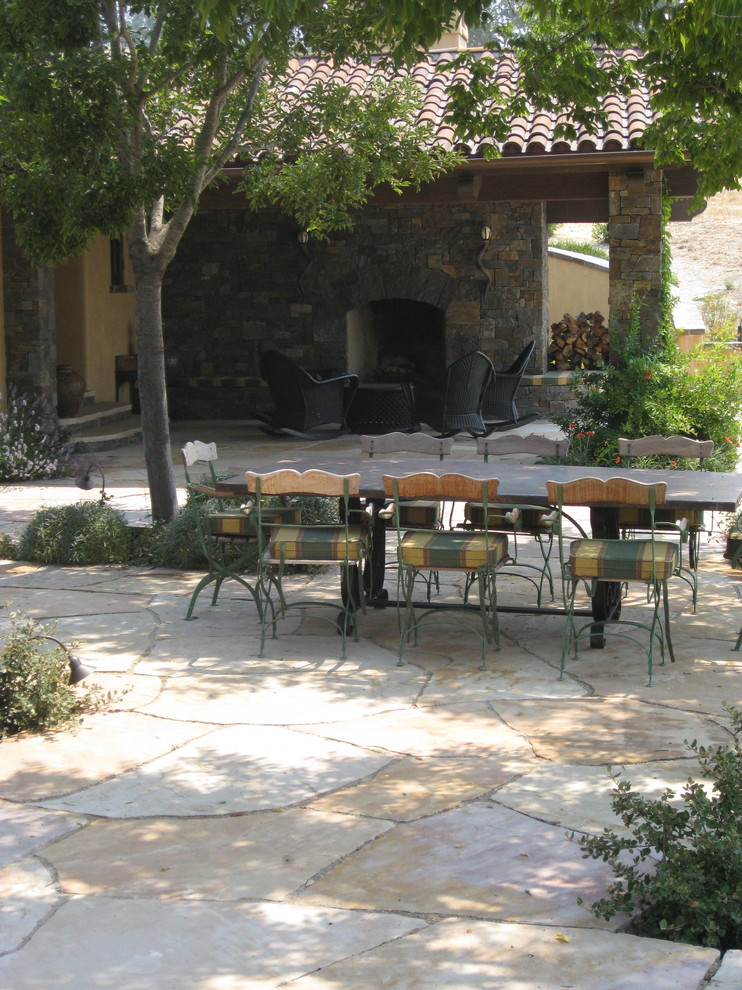Outdoor Rocking Chairs Landscape Mediterranean with Canopy Flagstone Green and Yellow Cushions Landscape Outdoor Chairs Outdoor Dining Outdoor
