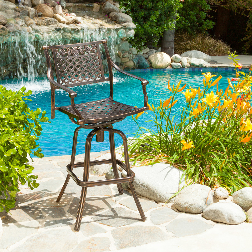Outdoor Swivel Bar Stools Patio Contemporary with Adjustable Backyard Seating Bar Stool Contemporary Copper Outdoor Patio Furniture Single
