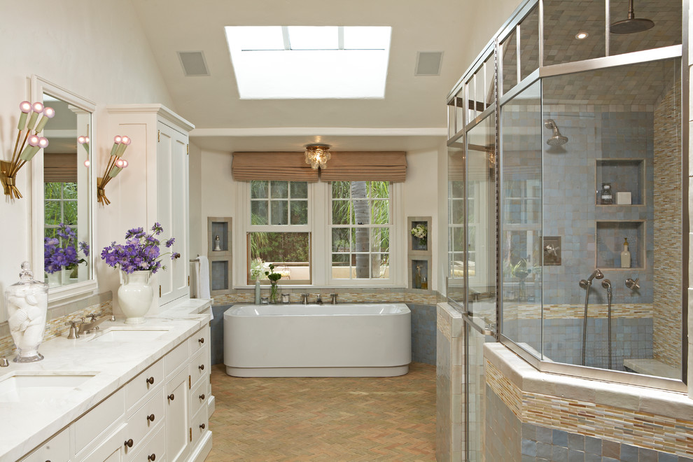 oval-area-rugs-Bathroom-Traditional-with-custom-shower-door-custom ...