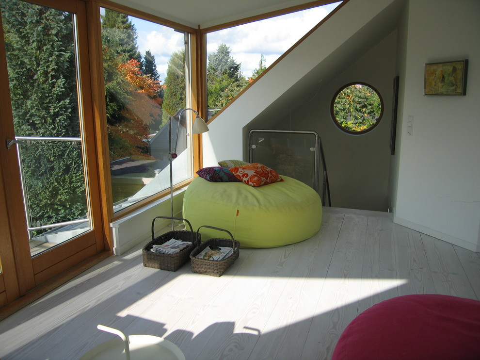 Oversized Bean Bags Family Room Contemporary with Bean Bag Chairs Corner Windows Decorative Pillows French Doors Loft Neutral Colors