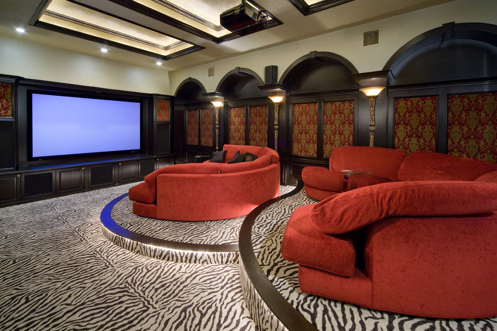 Oversized Sofa Home Theater Traditional with Home Theater Oversized Sofa Projector Red Sectional Red Sofa Stadium Seating Zebra