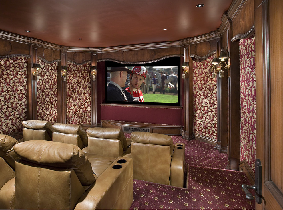 Palliser Home Theater Traditional with Ceiling Lighting Ceiling Treatment Home Theater Leather Recliners Recessed Lighting Sconce Screening