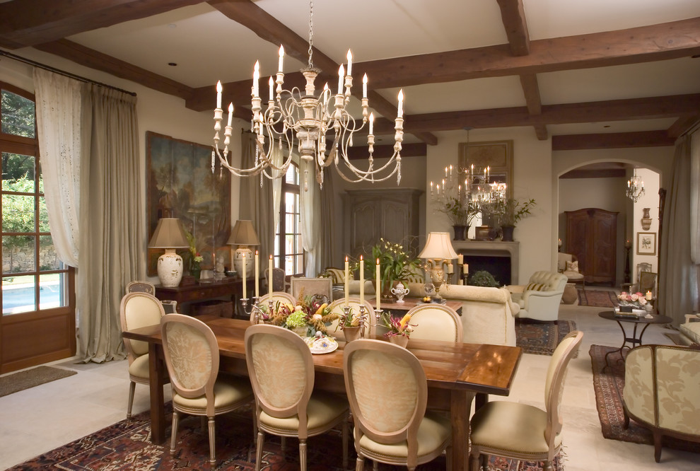 Pastry Mat Dining Room Traditional with Arch Doorway Arched Window Archway Beige Curtains Beige Dining Chair Beige Sofa