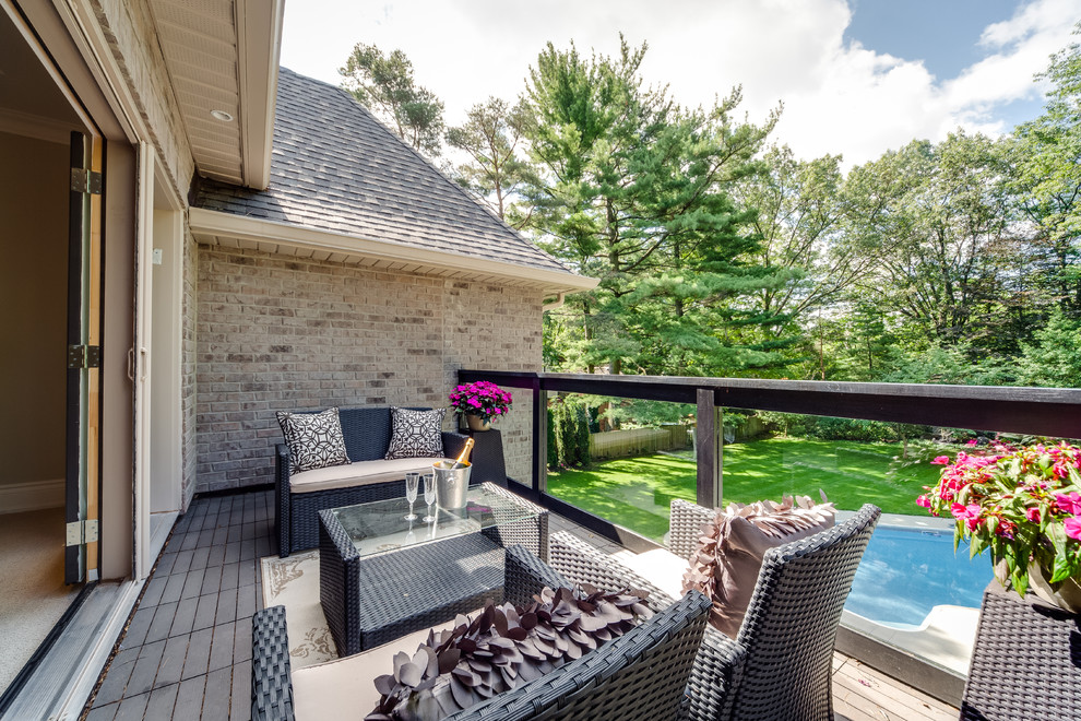 patio conversation sets Deck Contemporary with glass railing outdoor terrace