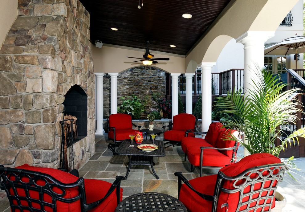 patio furniture replacement cushions Patio Traditional with archway ceiling fan columns covered patio fireplace accessories outdoor cushions outdoor fireplace