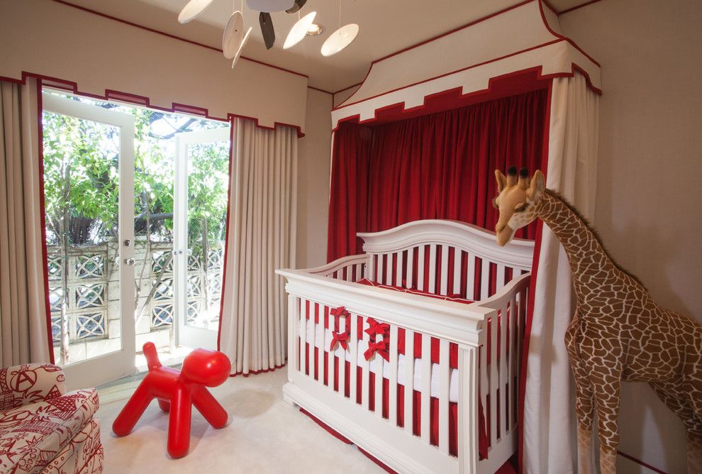 Patio Gliders Nursery Traditional with Crib Mobile Custom Canopy Over Crib Custom Crib Bedding Set Custom Draperies