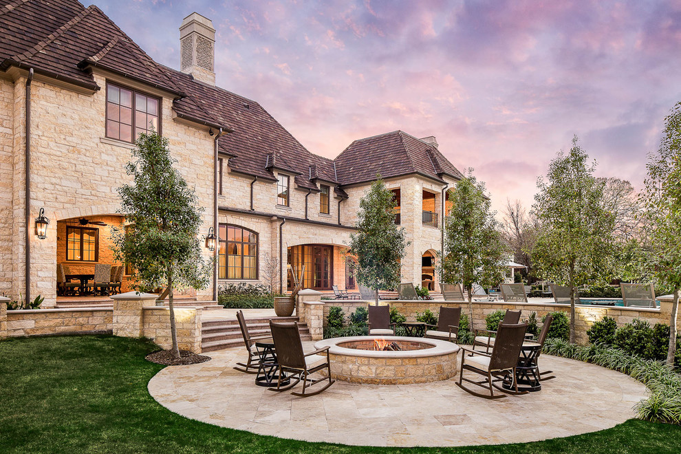 Patio Rocking Chairs Landscape Traditional with Arch Chimney Fire Pit Loggia Outdoor Rooms Patio Pool Rocking Chair Round