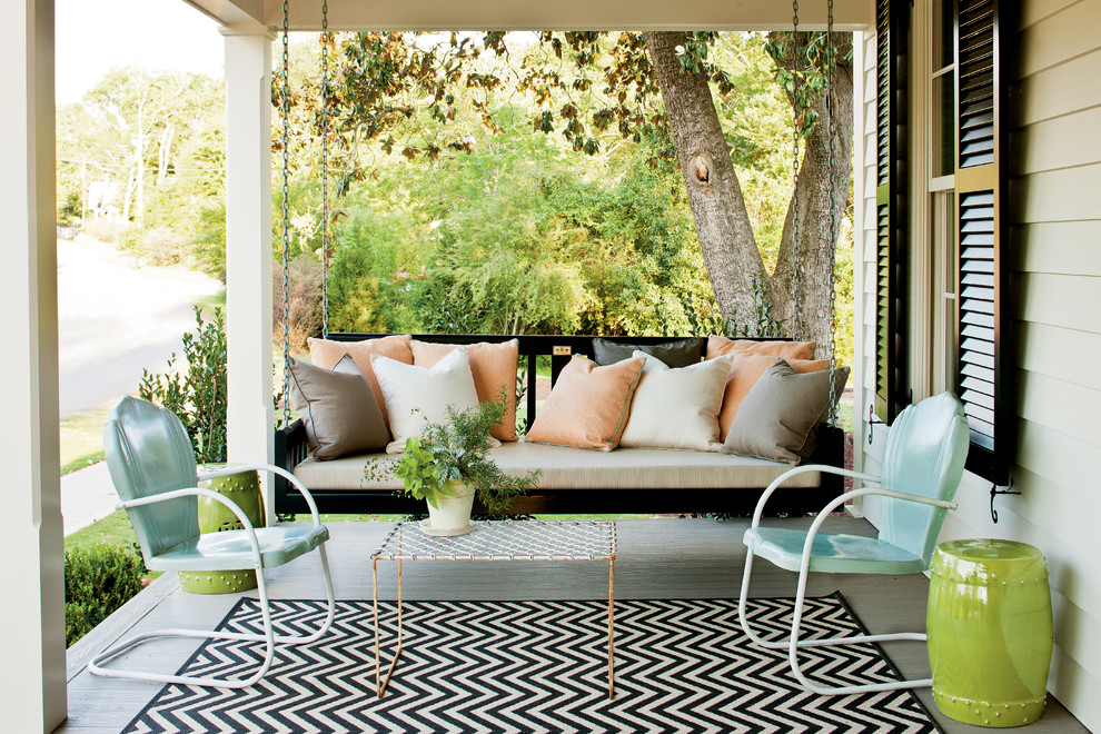 Patio Swing with Canopy Porch Farmhouse with Bed Swing Black Shutters Chair Eclectic Farmhouse Renovation Shutters Swing