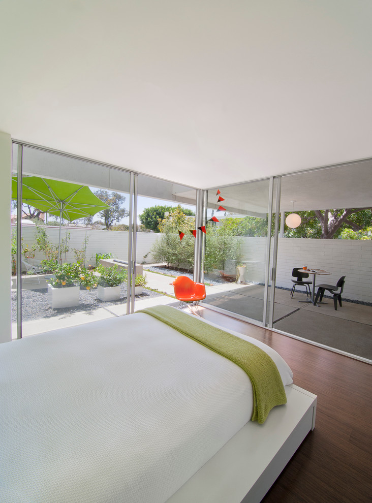 Patio Umbrella Bedroom Midcentury with Bed Frame Bedroom Furniture Contemporary Wood Floor Covered Patio Eames Fire Bowl