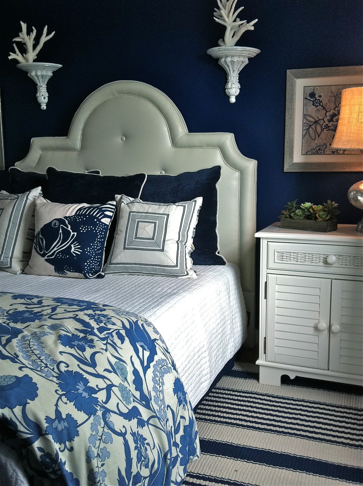 paula deen bedroom furniture Bedroom Beach with beach bed pillows Bedroom blue blue and white blue walls coastal coral