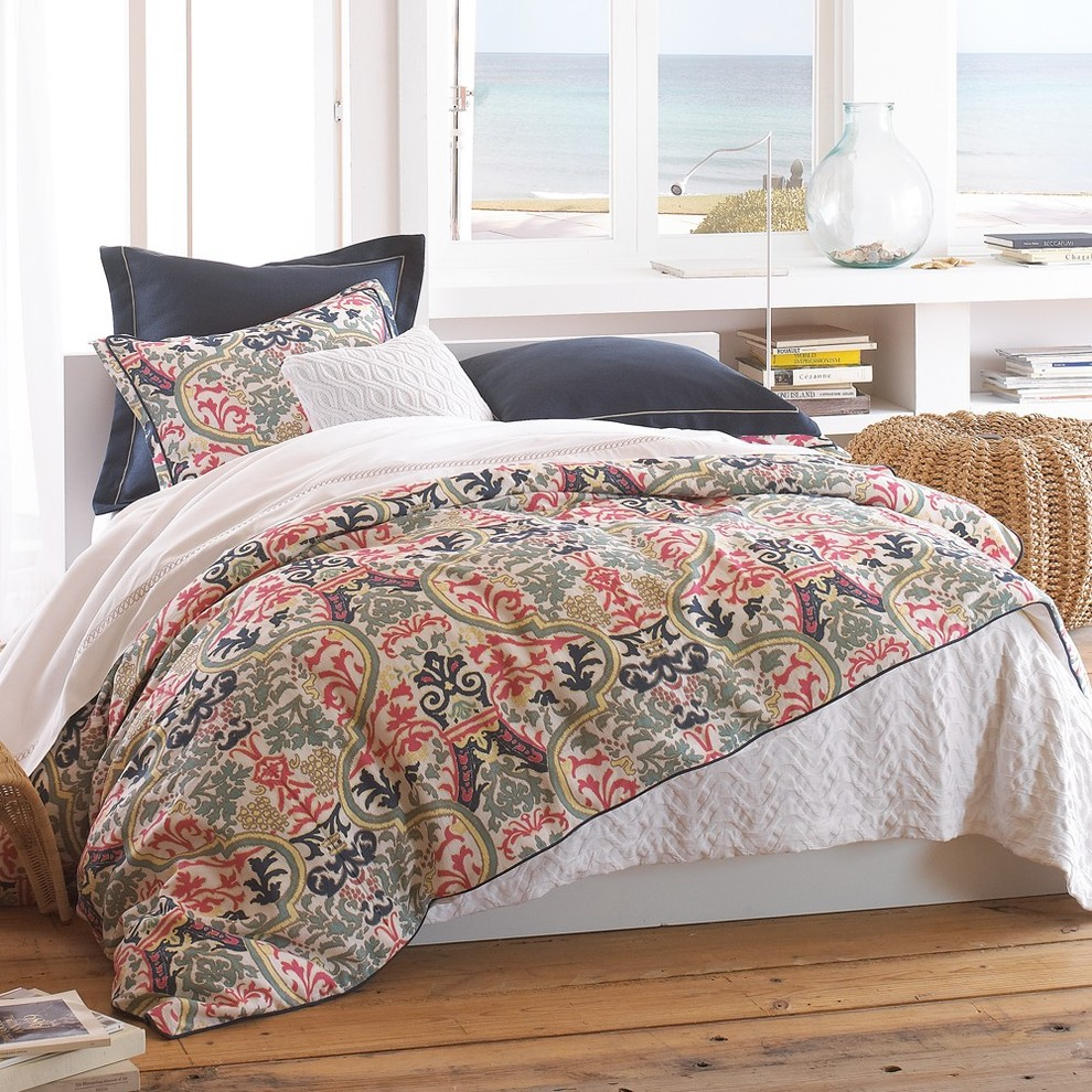 Peacock Alley Bedroom Mediterranean with Arizona Bedding Coral Linen Bedding Mediterranean Bright Colors Navy Blue Tucson