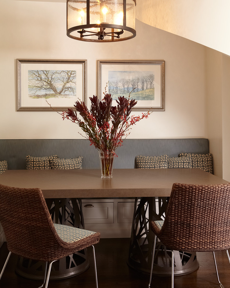 pedestal table base Dining Room Contemporary with antique banquette berkeley breakfast nook Eclectic glass light Marin metal pedestal table