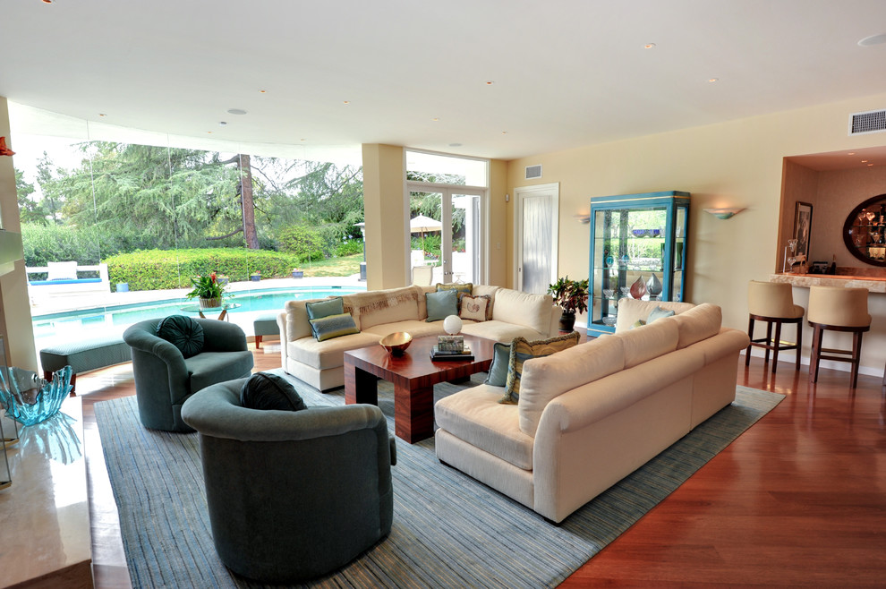 Penny Tiles Living Room Contemporary with Blue Contemporary Rug Contemporary Coffee Table Living Room with View Rosewood Table