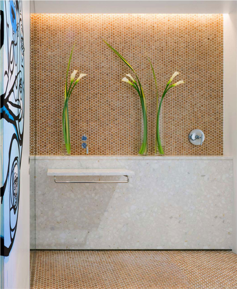 Penny Tiles Spaces Modern with Cork Flooring Cork Mosaic Cork Tiles Habitus Cork Mosaic Penny Tile Penny