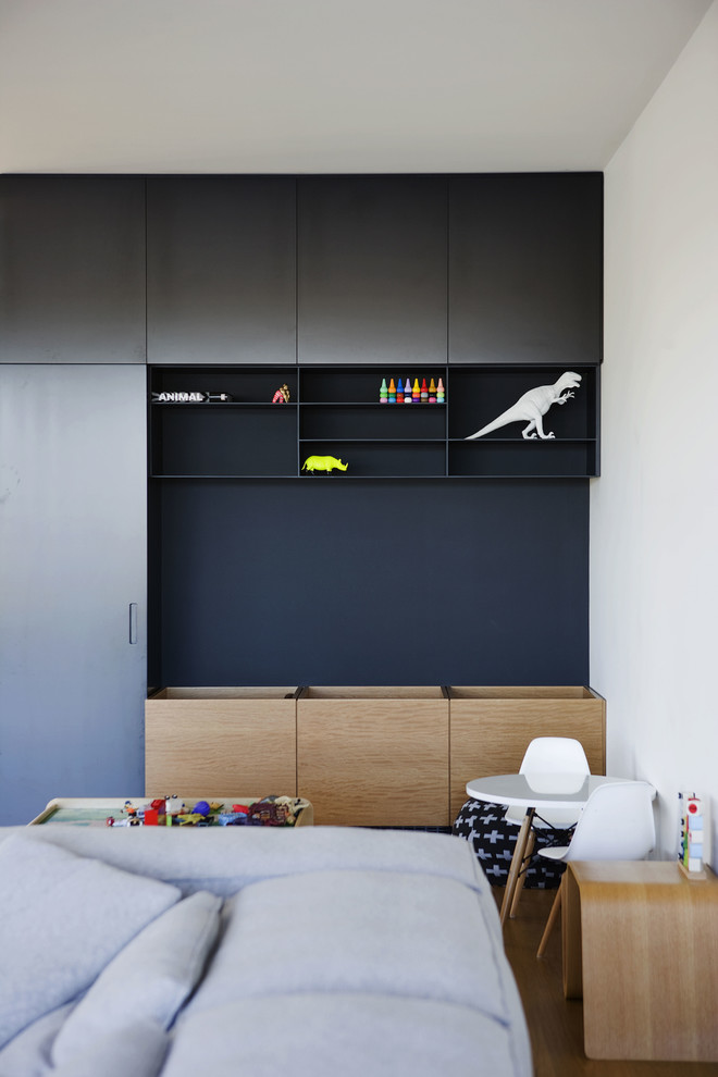 personalized toy chest Kids Contemporary with bins black cabinets black shelves contemporary design indoor-outdoor living kids joinery kids