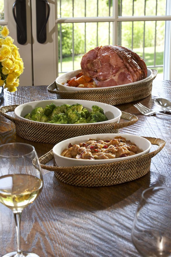 pillivuyt Dining Room Contemporary with Baker Decorative Serving Tray Baker Serving Tray Baker Tray Bakeware with Tray