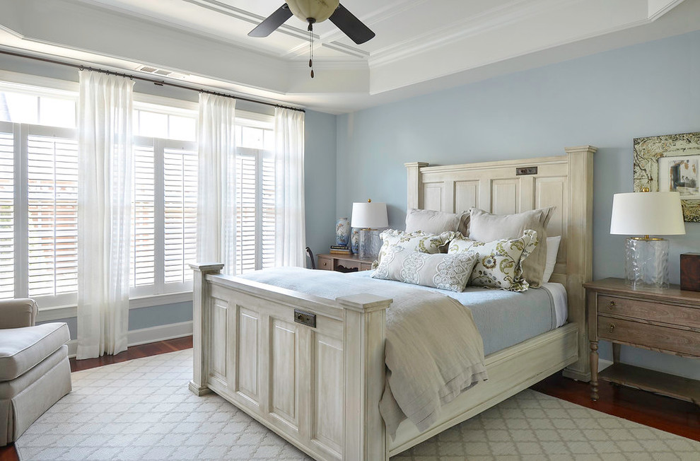 Pine Cone Hill Bedding Bedroom Eclectic with Blue and White Blue Walls Cottage Cottage Style Interesting Bed Light And