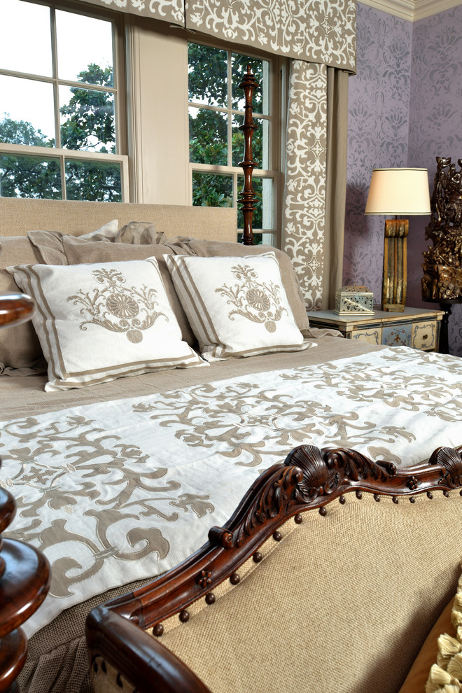 Pine Cone Hill Bedding Bedroom Traditional with Antique Furniture Antiques Bedroom Donna Vining Drapery Panels Embroidered Drapery Panels Foot