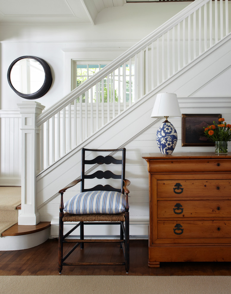Pine Dresser Staircase Victorian with Banister Blue and White Blue and White Table Lamp Boards Chair Rail