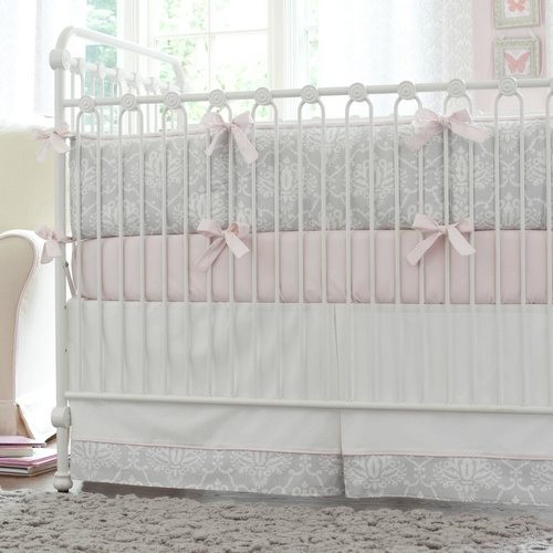 pink and gray crib bedding Kids Traditional with bumperless crib bedding crib bedding girl nursery