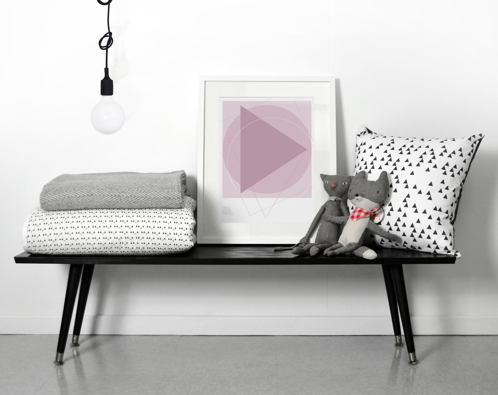 Pink and Gray Crib Bedding Spaces with Blackwhite Nordic Triangle Pillow Modern Baby Bedding Modern Crib Bedding Modern Girls