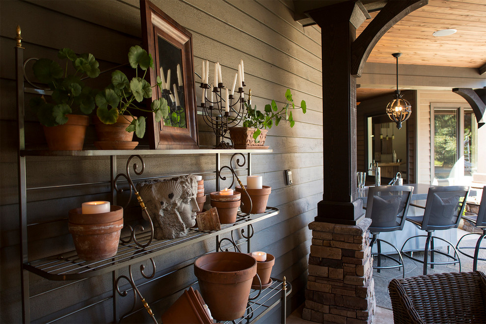Plant Stands Outdoor Patio Transitional with Covered Outdoor Kitchen Kalamazoo Cabinets Kitchen Outdoor Decor Outdoor Dining Outdoor Kitchen