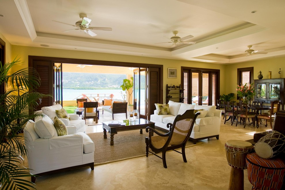 Plantation Chair Living Room Tropical with Caribbean Fresh Open Traditional Tropical 1