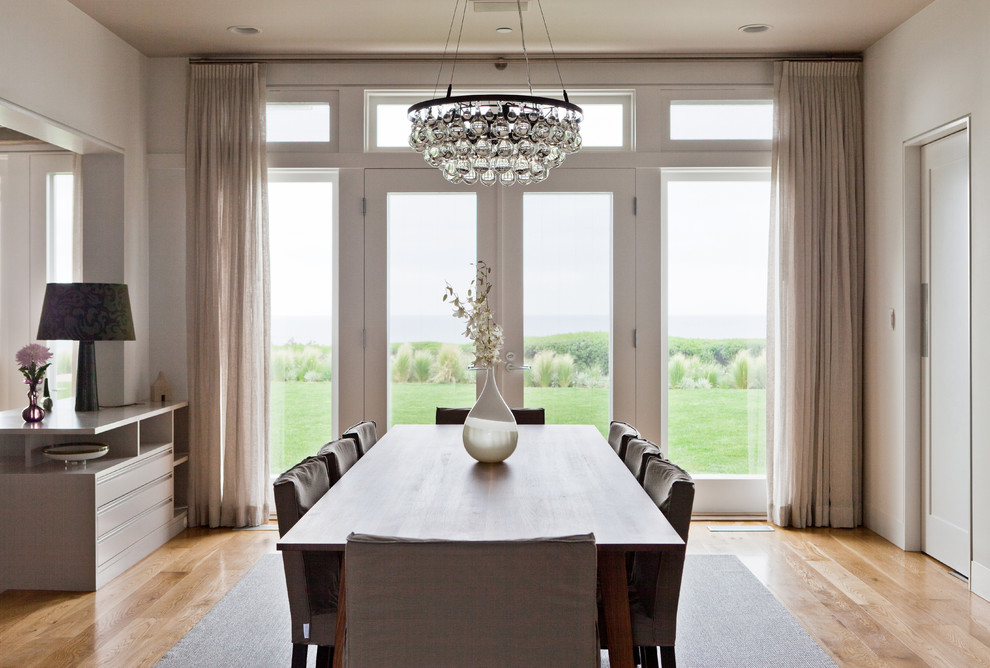 Plug in Chandelier Dining Room Contemporary with Crystal Chandelier Dining Room Chair Slipcover Glass Doors Glass Wall Hardwood Floors