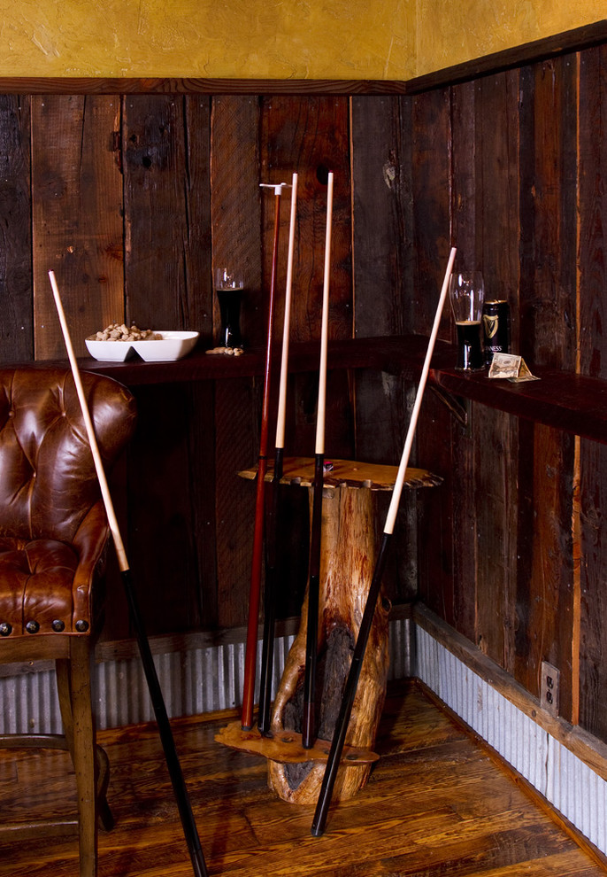 Pool Cue Racks Spaces with Cabin Lodge Reclaimed Wood Rustic