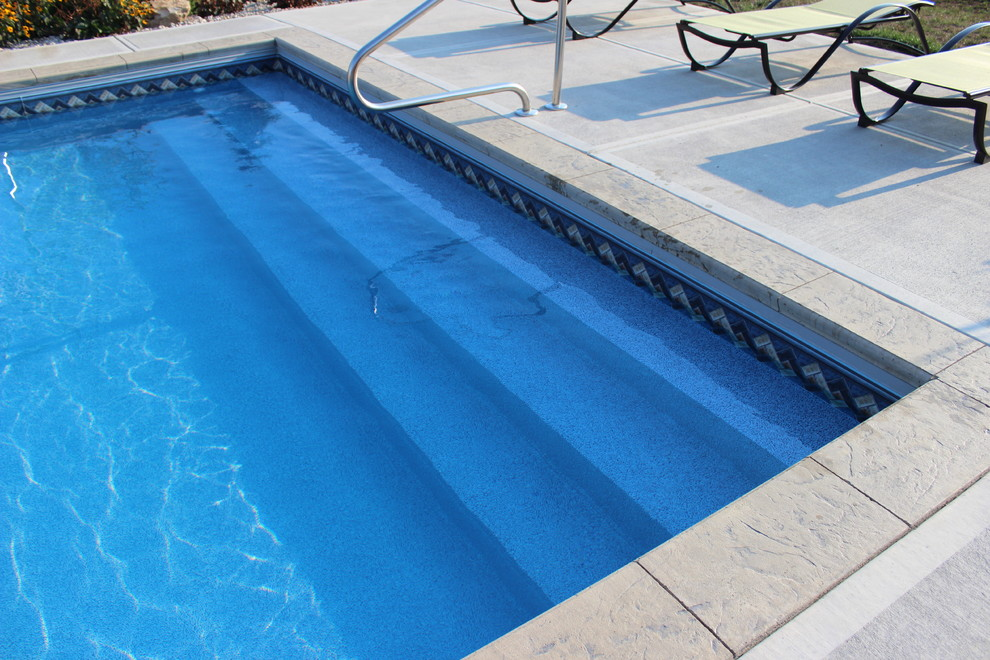 Pool Raft Pool with Backyard Columbus Indiana Full Width Steps in Ground Pool Raft to Rafters