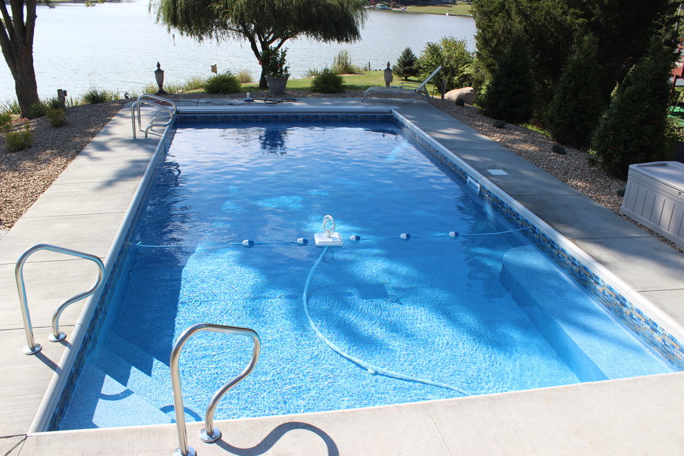 Pool Raft Pool with Backyard Columbus Indiana Corner Steps Custom Made Bench in Ground Pool Raft