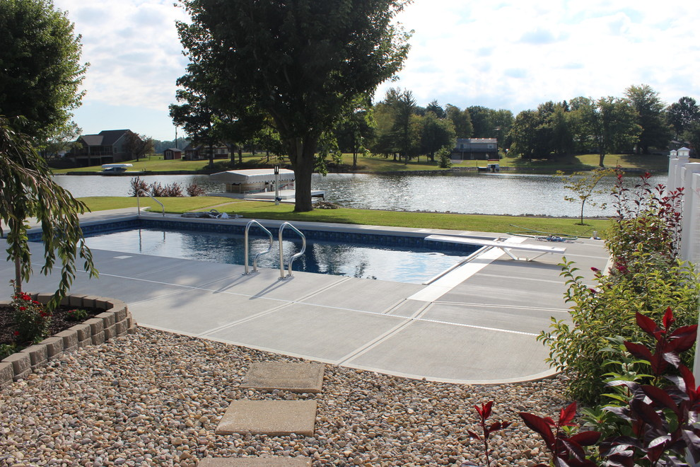 Pool Raft Pool with Backyard Columbus Indiana Diving Board in Ground Pool Lakeside Swimming Pool Raft