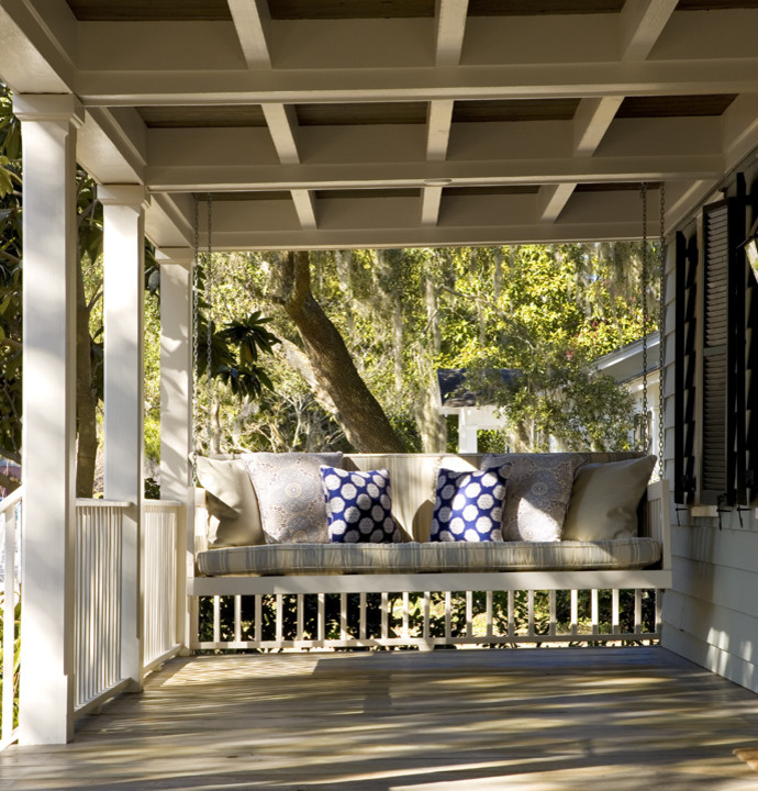 Porch Swing Cushions Porch Traditional with Porch Porch Swing 1