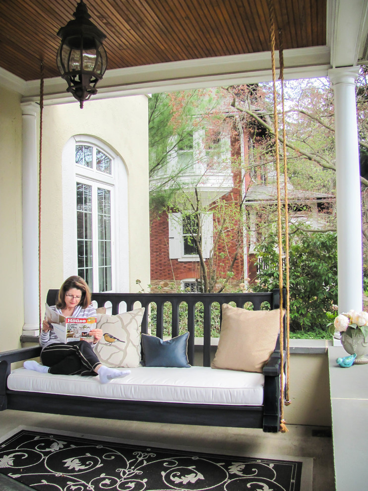 Porch Swing Cushions Porch Traditional with Back Porch Beautiful Front Porch Nostalgic Outdoor Outdoor Living Porch Swings Relaxing