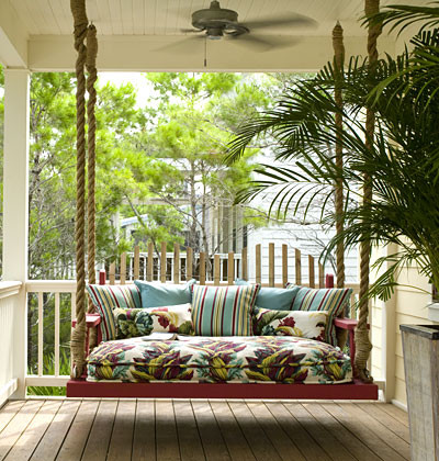 Porch Swing Cushions Porch Tropical with None