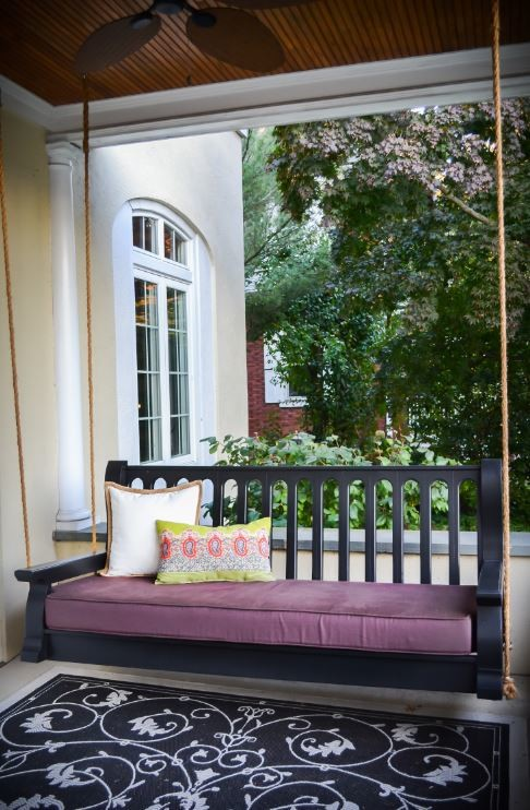 Porch Swing Cushions Spaces Modern with Custom Cushions Custom Porch Swing Custom Porch Swing Cushions