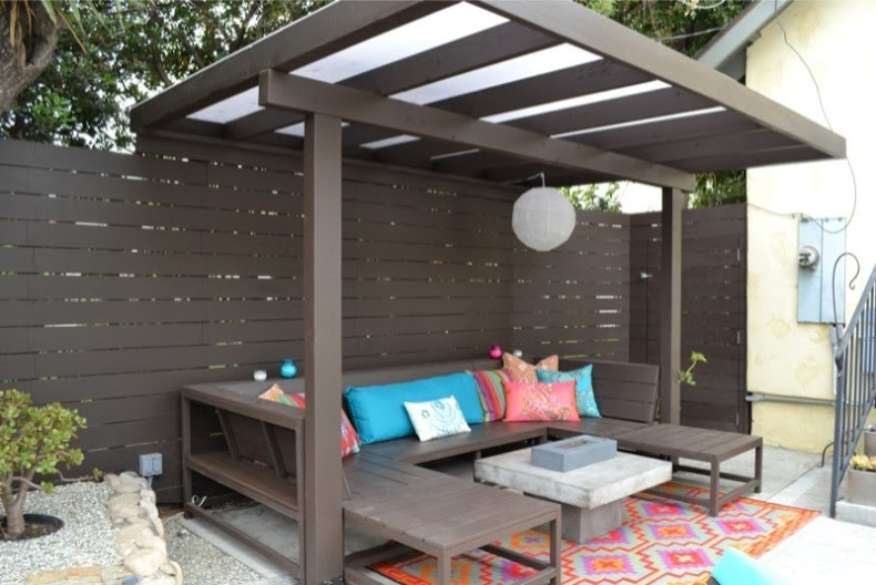 Porch Swings Porch Modern with Barbecue Brentwood Brown Contemporary Culver City Glass Handcrafted Handmade Hollywood Lacquer Los
