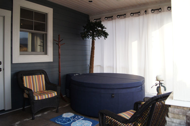 Portable Hot Tub Porch Craftsman with Porch Portable Hot Tub Privacy Curtain Privacy Screen Summer Porch